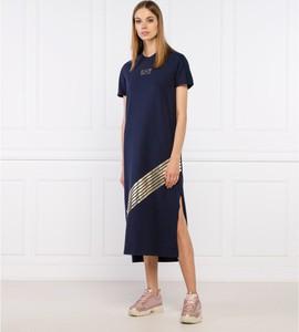 Sukienka Emporio Armani z krótkim rękawem z okrągłym dekoltem