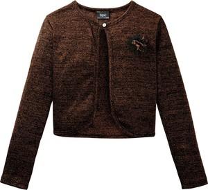 Brązowa bluzka dziecięca bonprix bpc bonprix collection