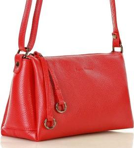 Czerwona torebka MAZZINI ze skóry