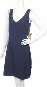 Granatowa sukienka Alpine Pro mini na ramiączkach z dekoltem w kształcie litery v