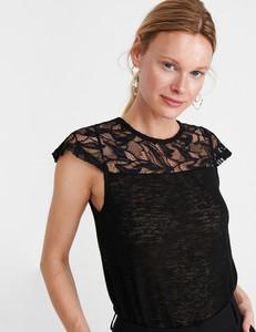 Czarna bluzka Reserved z krótkim rękawem
