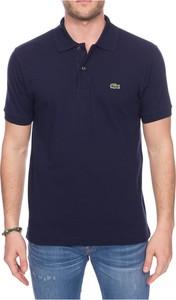 Niebieski t-shirt Lacoste w stylu casual
