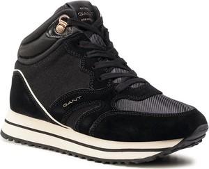 Czarne buty sportowe Gant sznurowane