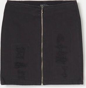 Czarna spódniczka dziewczęca Reserved z jeansu