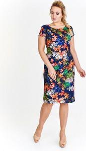 Sukienka Amadeo z okrągłym dekoltem z krótkim rękawem