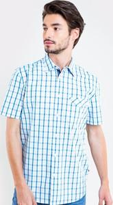 Niebieska koszula Big Star z klasycznym kołnierzykiem w stylu casual z krótkim rękawem