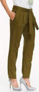 Zielone spodnie Top Secret z tkaniny