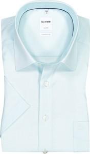 Koszula Olymp z bawełny z klasycznym kołnierzykiem z krótkim rękawem