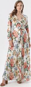 Sukienka born2be z dekoltem w kształcie litery v rozkloszowana w stylu boho