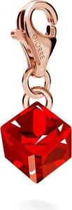 GIORRE SREBRNY CHARMS KAMIEŃ SWAROVSKI 925 : Kolor kryształu SWAROVSKI - Siam, Kolor pokrycia srebra - Pokrycie Różowym 18K Złotem