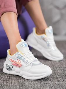 Sneakersy Czasnabuty sznurowane na platformie