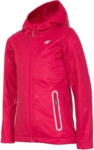 Czerwona kurtka dziecięca 4F z tkaniny