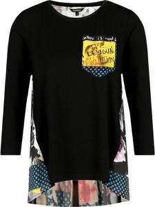 Bluzka Desigual z długim rękawem z okrągłym dekoltem w stylu casual