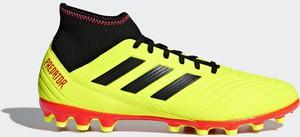 Żółte buty sportowe Adidas sznurowane