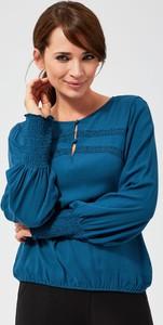 Bluzka Moodo z długim rękawem z okrągłym dekoltem w stylu casual