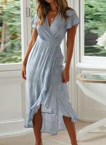 Sukienka Cikelly kopertowa maxi z dekoltem w kształcie litery v