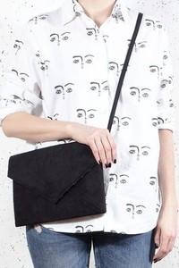 Czarna torebka Hairoo w stylu glamour