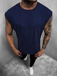 Granatowa koszulka Ozonee z bawełny