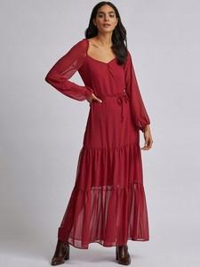 Sukienka Dorothy Perkins z długim rękawem z dekoltem w kształcie litery v