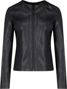 Czarna kurtka Armani Jeans w rockowym stylu