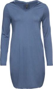 Niebieska sukienka bonprix RAINBOW w stylu casual z okrągłym dekoltem oversize