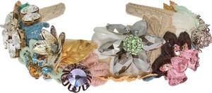 Dolce & Gabbana Wielobarwna kwiatów Złoty Kryształ pałąk