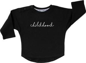 Czarna bluza dziecięca ilovemilk.pl dla chłopców z bawełny