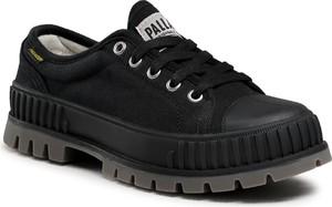 Czarne buty trekkingowe Palladium sznurowane