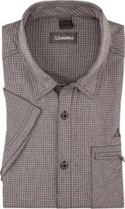 Brązowa koszulka Schöffel w stylu casual z krótkim rękawem