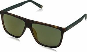 amazon.de Ted Baker okulary przeciwsłoneczne męskie Hammond brązowe (Tortoise/Green) 59.0