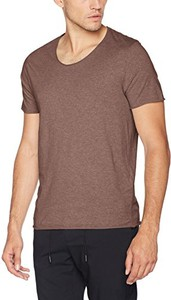 Brązowy t-shirt selected homme