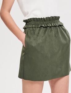 Spódnica Reserved w stylu casual z zamszu mini