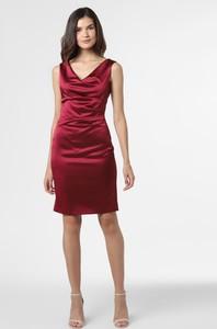 Czerwona sukienka Vera Mont Collection mini z satyny