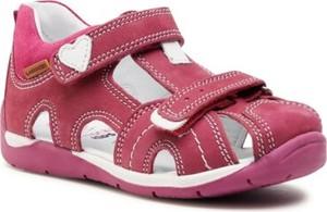 Buty dziecięce letnie Lasocki Kids ze skóry dla dziewczynek na rzepy