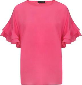 Różowa bluzka Twinset z jedwabiu