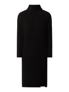 Czarna sukienka Vila midi w stylu casual z dzianiny