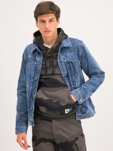 Niebieska kurtka G-Star Raw w młodzieżowym stylu