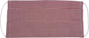 Czerwono-Biała Antywirusowa Maseczka Ochronna w Kratkę, Bawełniana -ALTIES Wielorazowa, Uniwersalna MASALTS0023