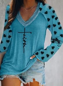 Niebieska bluzka Sandbella z dekoltem w kształcie litery v
