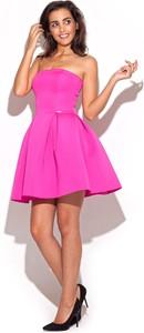 Różowa sukienka Katrus mini bez rękawów