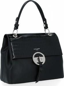 Czarna torebka David Jones ze skóry ekologicznej w stylu glamour