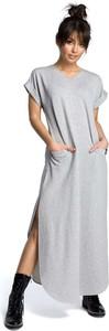 Sukienka MOE oversize z okrągłym dekoltem