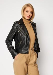 Kurtka Trussardi Jeans krótka w stylu casual ze skóry