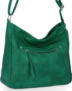 Zielona torebka Herisson duża na ramię