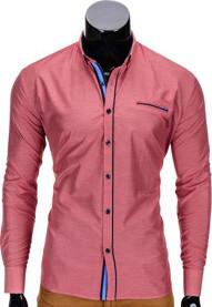 b34847a5a453 Różowa koszula ombre clothing z krótkim rękawem w młodzieżowym stylu z  nadrukiem
