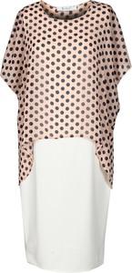 Sukienka Fokus z tkaniny w stylu retro z krótkim rękawem