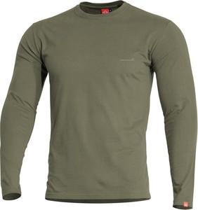 Zielona koszulka z długim rękawem Pentagon z bawełny w stylu casual