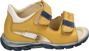 Żółte buty dziecięce letnie EMEL na rzepy