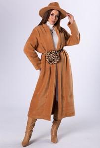 Brązowy płaszcz Ptak Moda w stylu casual