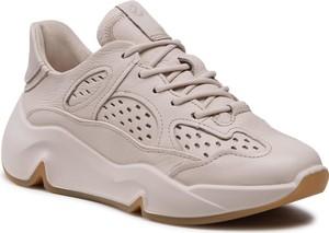 Buty sportowe Ecco ze skóry na platformie